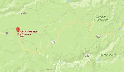 Rush Creek Map Yosemite